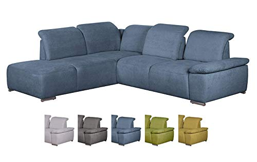 CAVADORE 512 Polsterecke Tabagos, Ottomane at Funktion 3-er, 285 x 85-96 x 248 cm