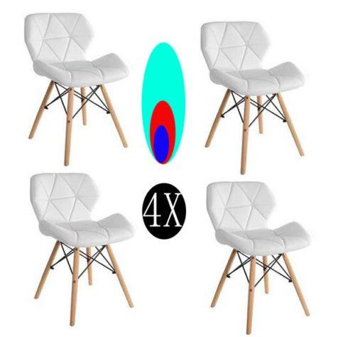 KunstDesign Set von 4 Stühlen - für Esszimmer, Küche, Schlafzimmer, Lounge - Easy-Assemble & Clean