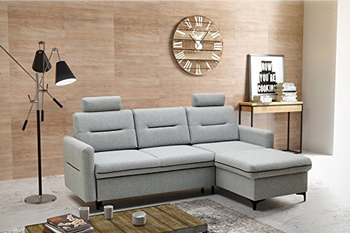 mb moebel kleines ecksofa eckcouch mit bettk sten mit schlaffunktion soft couch wohnlandschaft l. Black Bedroom Furniture Sets. Home Design Ideas