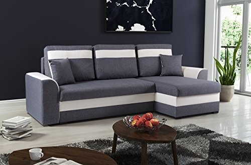 mb moebel kleines ecksofa sofa eckcouch mit schlaffunktion. Black Bedroom Furniture Sets. Home Design Ideas