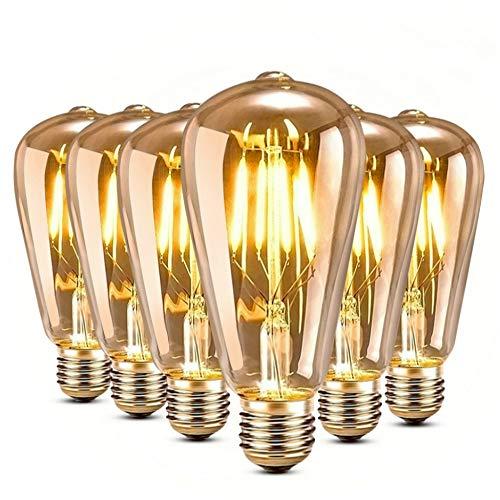 genmer e27 4w edison vintage gl hbirne led lampe gl hbirne. Black Bedroom Furniture Sets. Home Design Ideas