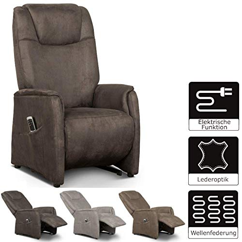 CAVADORE TV-Sessel, Schaumstoff, Verstellung der Fußstütze und Rückenlehne durch 2-Motoren,