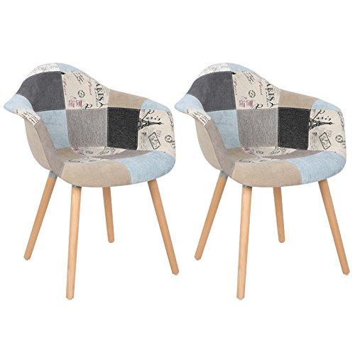 woltu 981 esszimmerst hle 2er set esszimmerstuhl mit. Black Bedroom Furniture Sets. Home Design Ideas