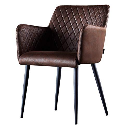 Damiware Rose Stuhl | Design Wohnzimmerstuhl Esszimmerstuhle Bürostuhl mit Stoffbezug |
