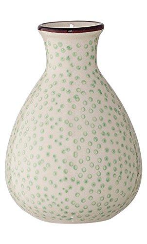 Bloomingville Vase Patrizia 6,5 x 11 cm grün gepunktet
