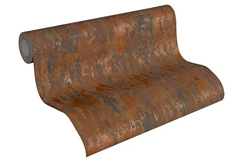 A.S. Création Vliestapete Havanna Tapete in Vintage Rost Optik 10,05 m x 0,53 m braun metallic orange Made in Germany 326511 32651-1