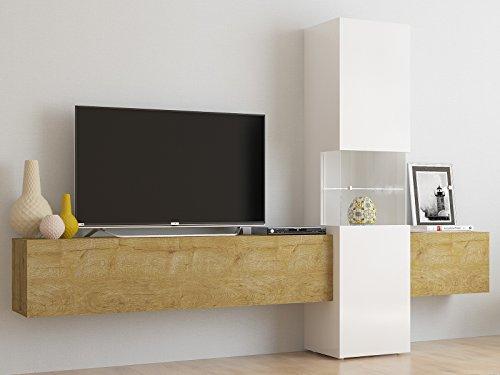 möbelando Wohnwand Wohnzimmerschrank Fernsehschrank Mediawand TV Schrank Incontro III